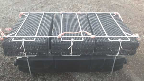 Aluminum oyster growing cage